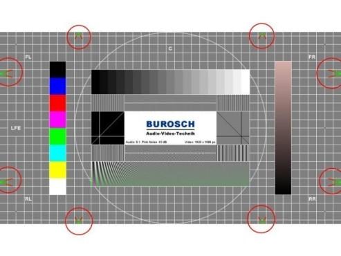 TV-Gerät mithilfe von Testbildern optimieren: Bildformat einstellen
