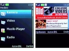 Nokia 5000 Unterhaltungsprogramm: Das Nokia bietet Kamera, Radio, Video-Wiedergabe und Web-Browser.