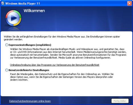 Windows Media Player installieren
