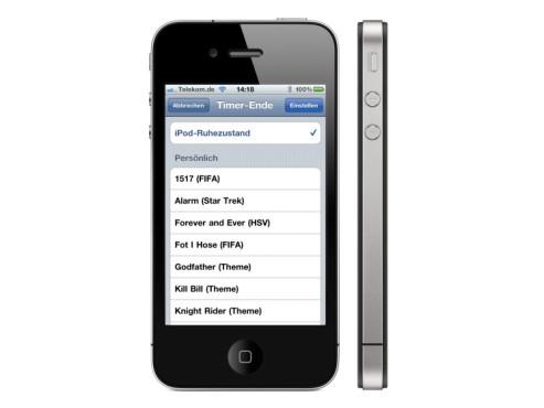 Schlaf-Funktion fürs iPhone ©Apple