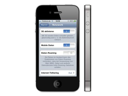 Wenig-Surfen sparen Energie durch ausgeschaltetes 3G ©Apple