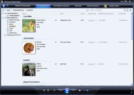 Media Player 11: Musik-CDs erstellen