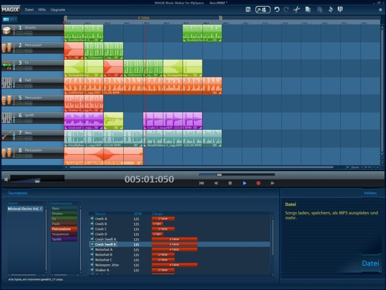 Screenshot 1 - Magix Music Maker for MySpace – Kostenlose Vollversion