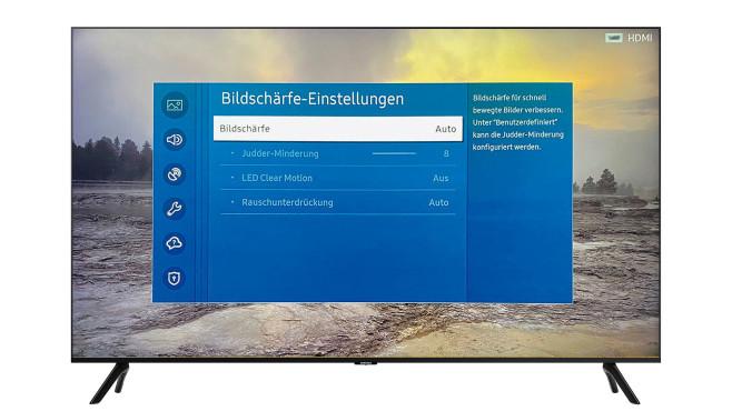 Samsung integriert die Bewegungsglättung in den Bildschärfeeinstellungen.©Samsung, COMPUTER BILD