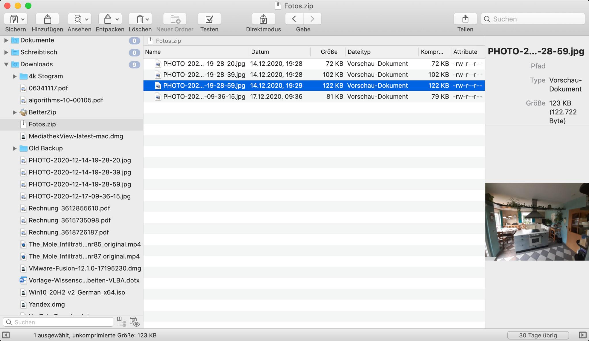 Screenshot 1 - BetterZip (Mac)