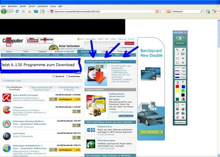 Internetseite Screenshot