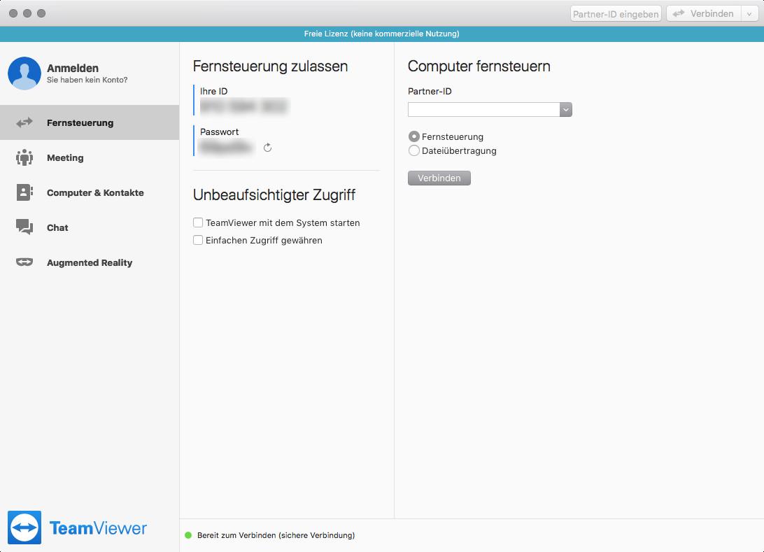 Screenshot 1 - TeamViewer (Mac)