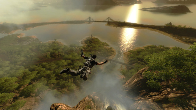 Actionspiel Just Cause 2: Fallschirm