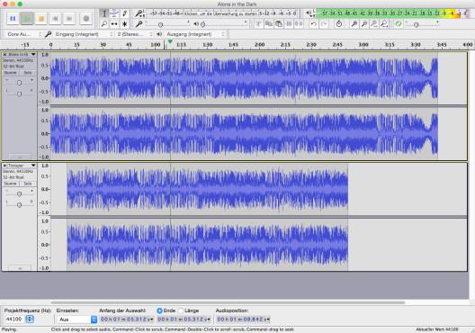 Screenshot 1 - Audacity (Mac)