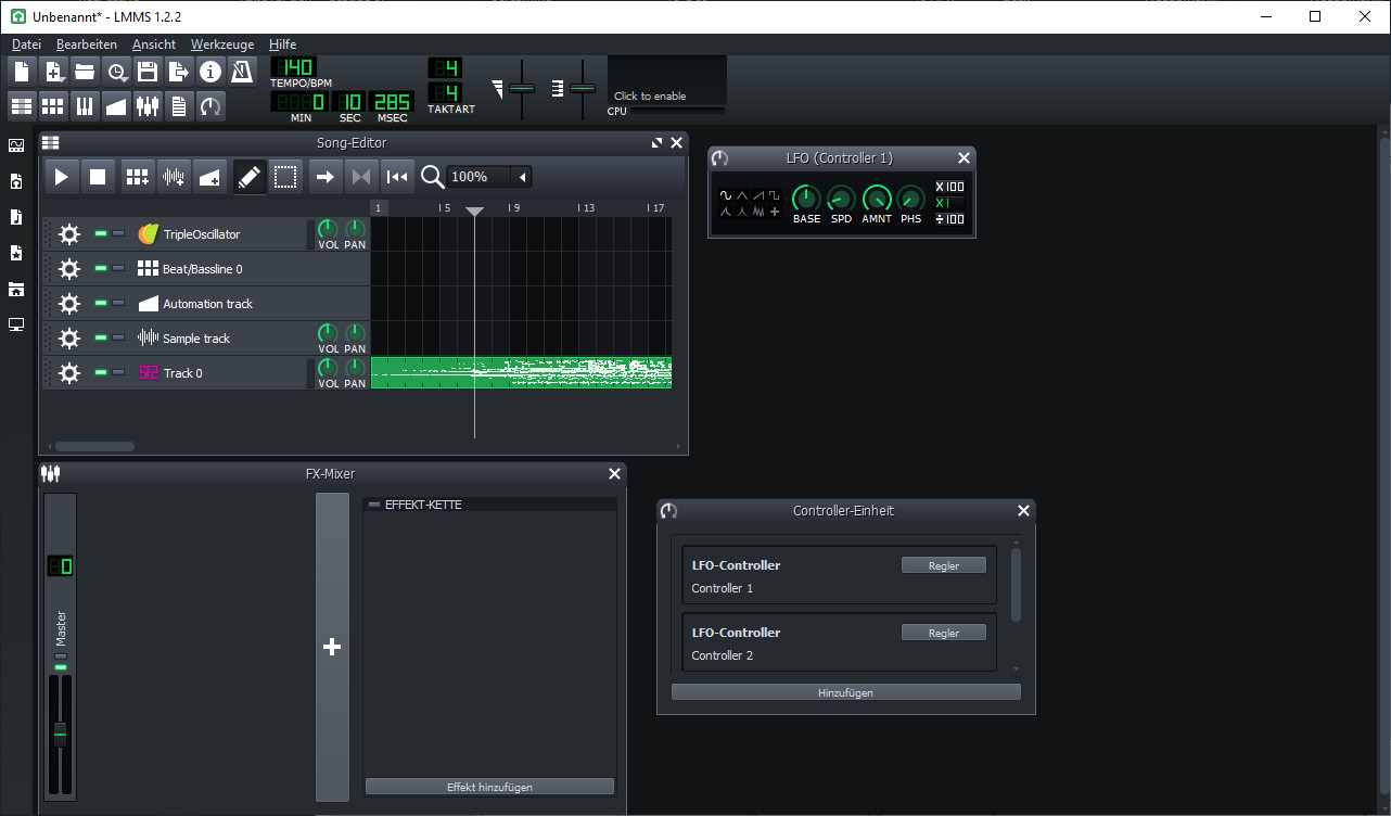 Screenshot 1 - LMMS (Linux MultiMedia Studio)