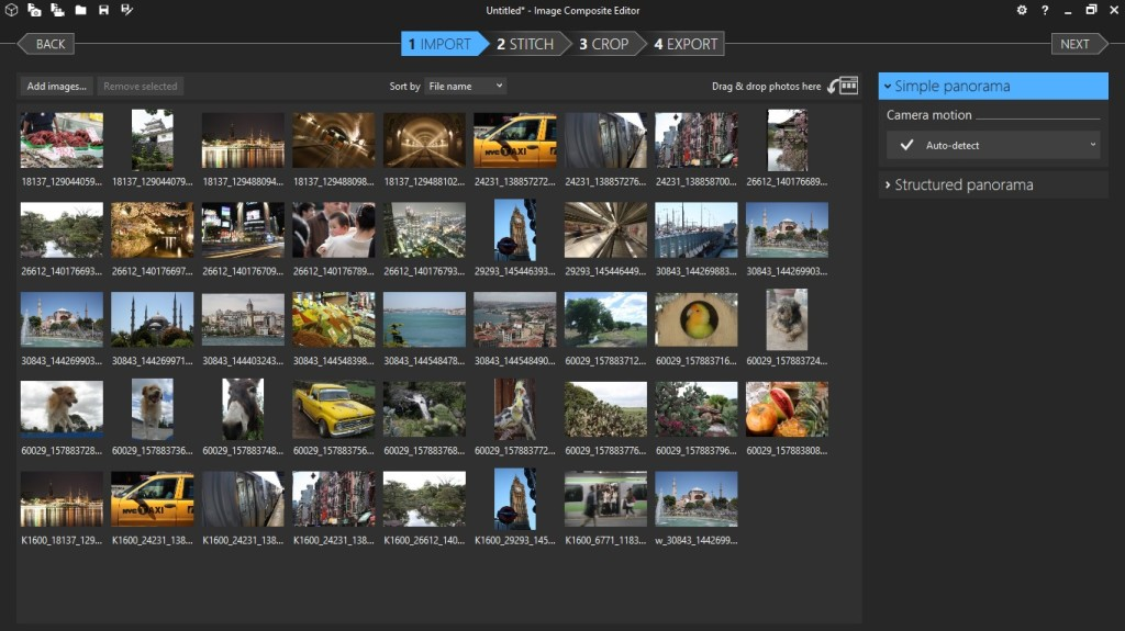 Screenshot 1 - Microsoft Image Composite Editor (32 Bit)