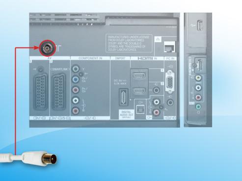 Anschluss für Koaxial-Stecker©COMPUTER BILD