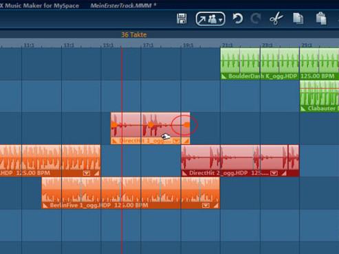 Magix Music Maker: Lautstärke festlegen