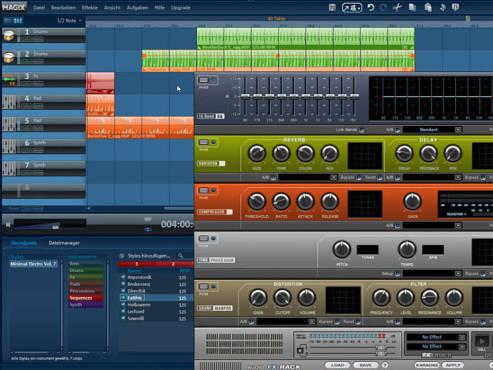 Magix Music Maker: Screenshot Dateimanager
