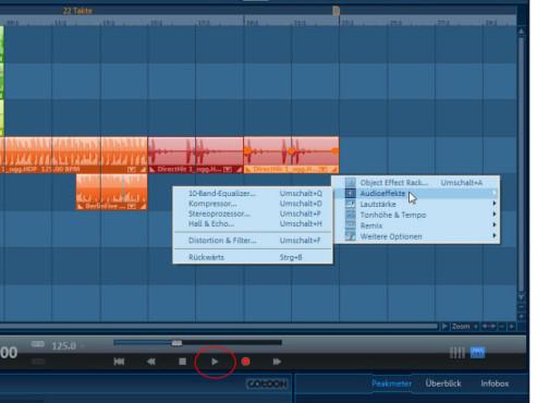 Magix Music Maker: Screenshot Player