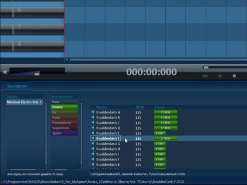 Magix Music Maker: Screenshot Soundpools