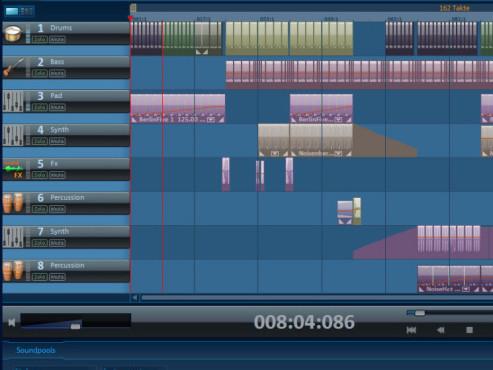 Magix Music Maker: Screenshot Tonspur-Symbole