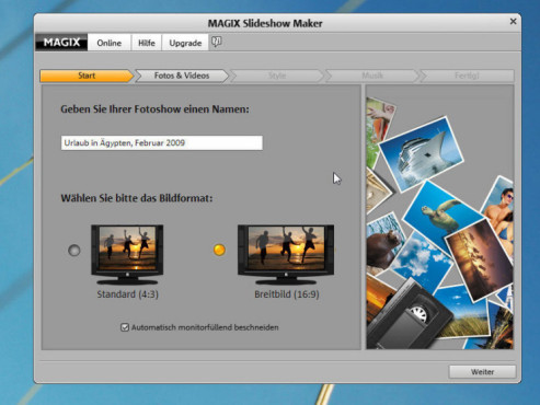 Magix Slideshow Maker: Screenshot