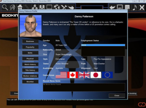 Total Extreme Wrestling 2005 © Grey Dog Software