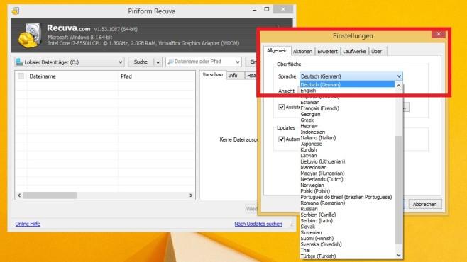 Daten retten mit Recuva ©COMPUTER BILD