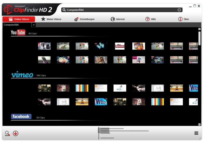 Screenshot 1 - Ashampoo ClipFinder HD 2