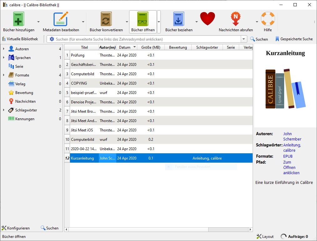 Screenshot 1 - Calibre (32 Bit)