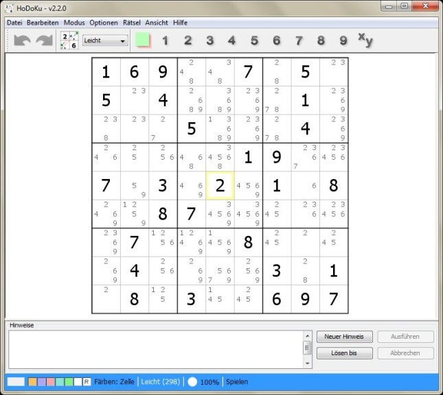 Screenshot 1 - HoDoKu