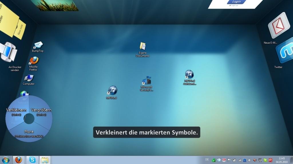 Screenshot 1 - BumpTop Free