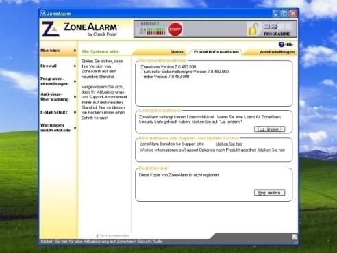 ZoneAlarm: Produktinformationen