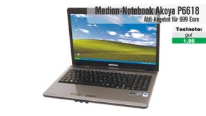 Video zum Test: Aldi-Notebook Medion Akoya P6618