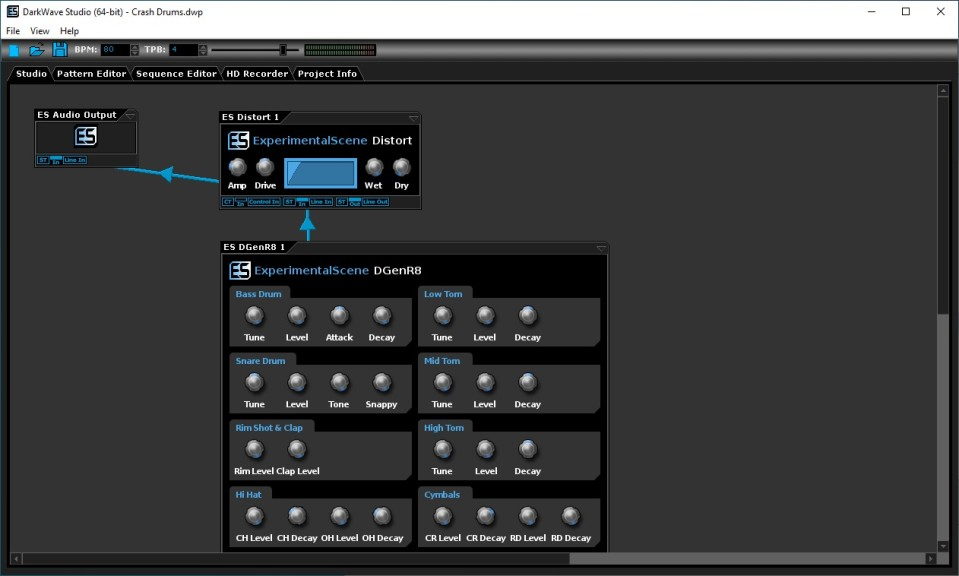 Screenshot 1 - DarkWave Studio