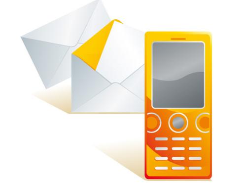 Handy-Symbol und Mailbox