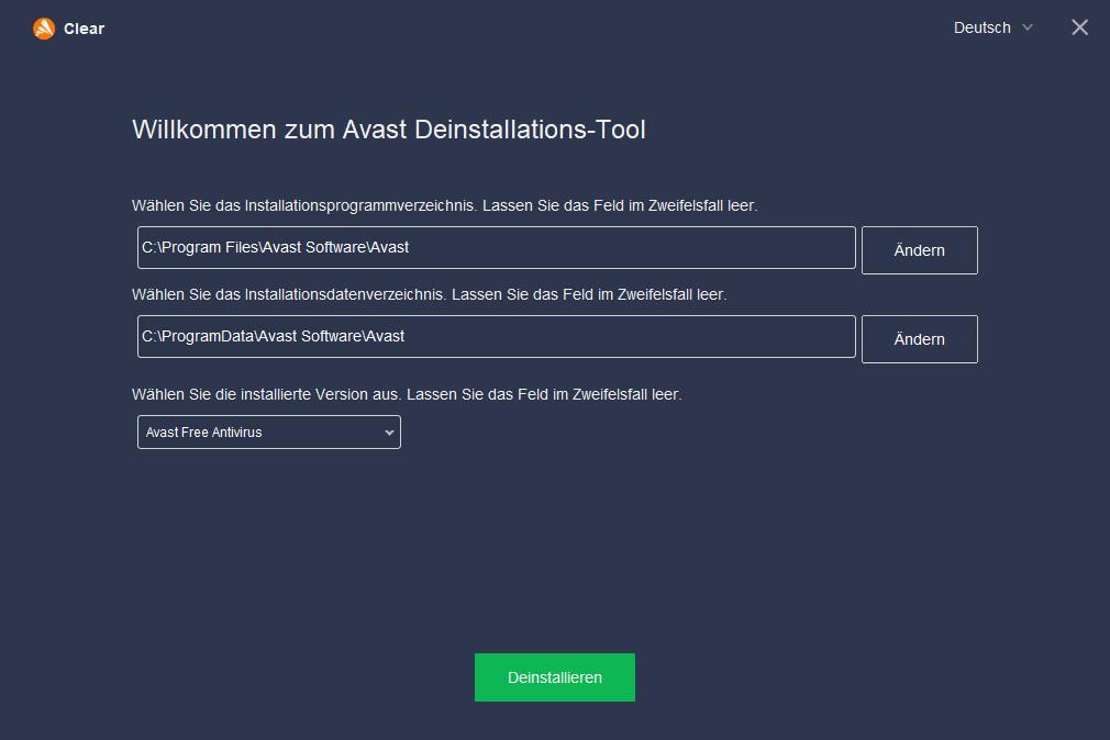 Screenshot 1 - Avast Uninstall Utility