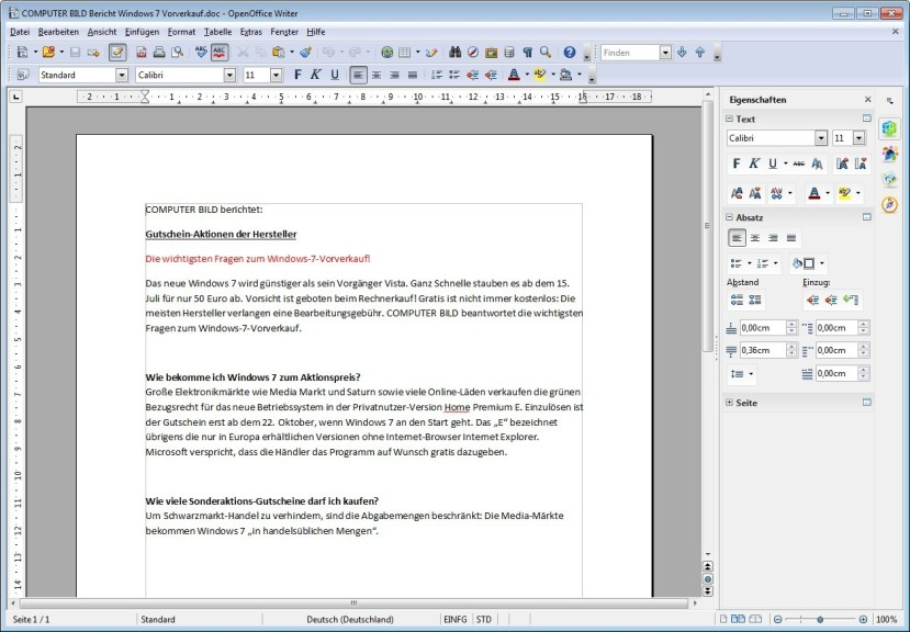 Screenshot 1 - PDF Import for Apache OpenOffice