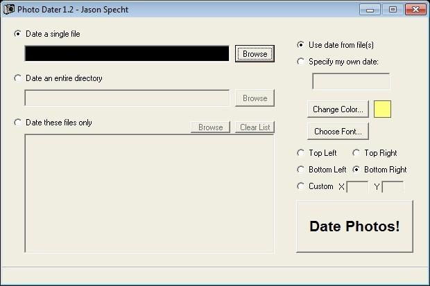 Screenshot 1 - Photo Dater