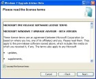 Windows 7 Upgrade Advisor: Lizenzbedingungen