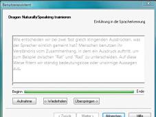 Nuance Dragon Naturally Speaking 10 Probevorlesen: Für gute Spracherkennung muss der Nutzer die Software an seine Stimme gewöhnen.