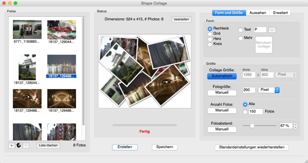Screenshot 1 - Shape Collage (Mac)