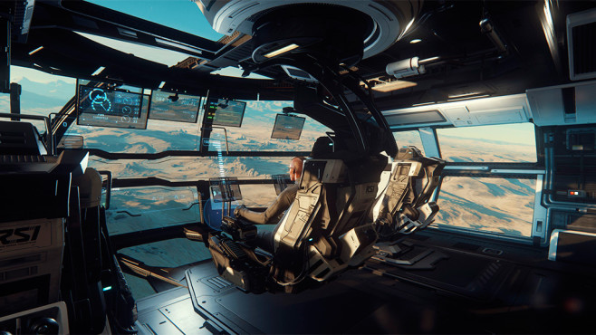Simulation Star Citizen: Hangar © Chris Roberts
