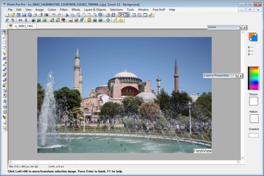 Screenshot 1 - POS Free Photo Editor