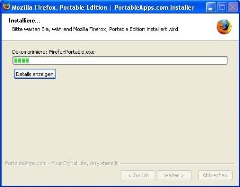 Firefox Portable: Kopiervorgang