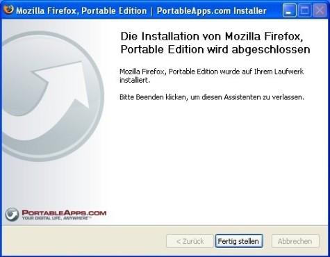 Firefox Portable: fertig