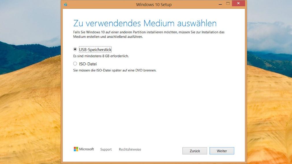 Windows 7, 8.1 und 10 vom USB-Stick installieren: So funktioniert es