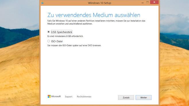 Windows 7, 8.1 und 10 vom USB-Stick installieren: So funktioniert es©COMPUTER BILD