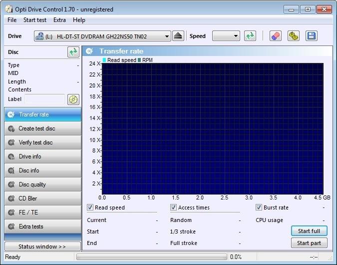 Screenshot 1 - Opti Drive Control
