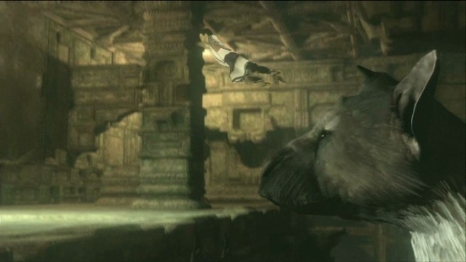 Actionspiel The Last Guardian: Sprung ©Sony