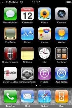 Apple iPhone 3GS: Homescreen