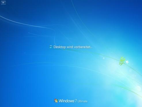 Windows 7 Installation: Abschliessen