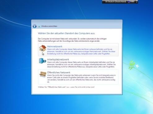 Windows 7 Installation: Netzwerk