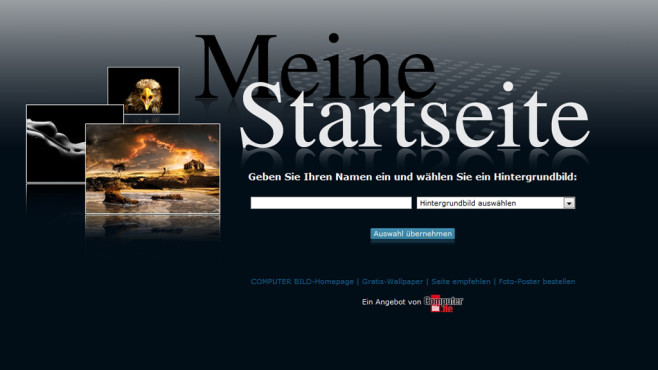 Meine Startseite: Google-Suche mit Hintergrundbild©Sven Jan Arndt, Jan, Lassen, Peter Licht, computerbild.de